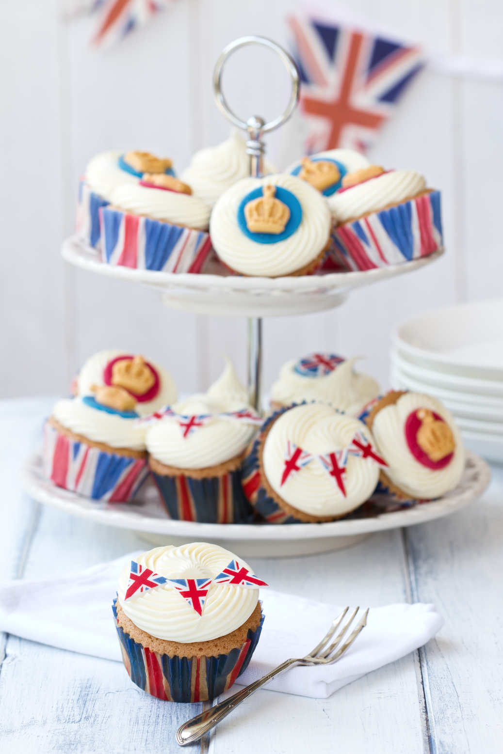 Cupcakes to celebrate the Diamond Jubilee of Queen Elizabeth II
